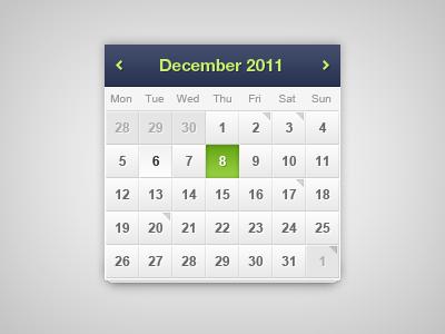 Calendar - Free psd calendar ui design date event free freebie psd
