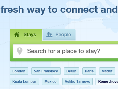Search form with tabs and tags search form tabs tags input social travel stays people location destination