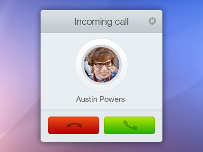 Incoming call call chat skype ui incoming call video chat