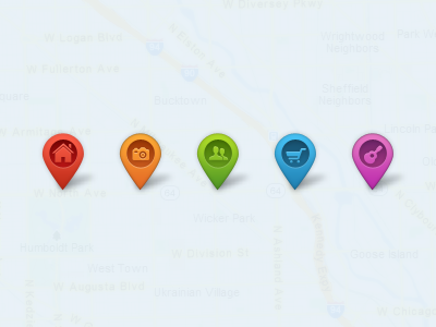 Map Pointers - Free fully scalable psd map pointer merker pin psd free freebie ui icon vecor shape