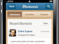 Moments - iPhone Social App