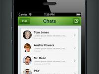 WhatsApp Redesign (Rebound) ios iphone app application chat message whatsapp rebound redesign ui design retina clean green concept