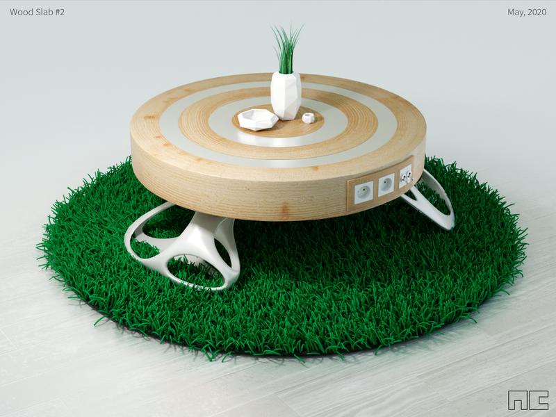 Concept Designs #4 render 3d cristofano b3d wood table design concept furniture blender