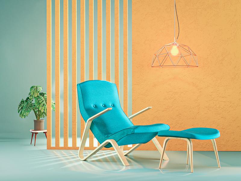 3D Furniture blender3d interior product concept 3d artist modern 3d art render design blender