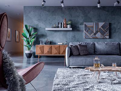 ArchViz - Scandinavian Interior archviz interior design scandinavian interior 3d artist modern 3d art render design blender