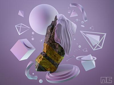 Rock Reveal graphics product concept 3d artist modern 3d art render design blender