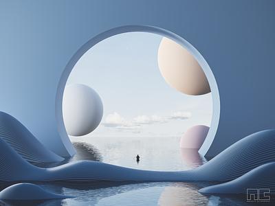 Mind Rowing illustration 3d product concept 3d artist modern 3d art render design blender