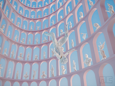 • Suspect in the pantheon • 3d artist 3d illustration motiongraphics motiongraphic modern 3d art render design blender