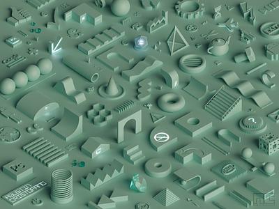 • In my head • illustration 3d product concept 3d artist modern 3d art render design blender