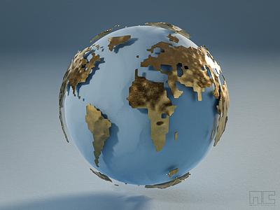 The most common shape on the planet  lol 3d artist unique nft 3d render colour pastel design earth photorealistic