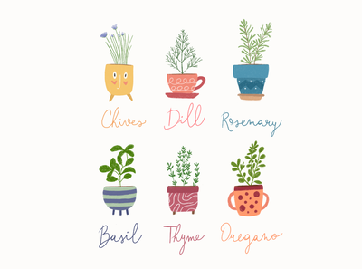 Inktober Day 18 - Herbs