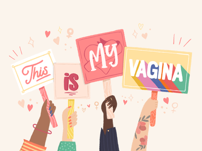 This is my vagina messages tattoo flowers illustration digital digital procreate netflix sex education vagina manifest riot feminist art illustration feminist