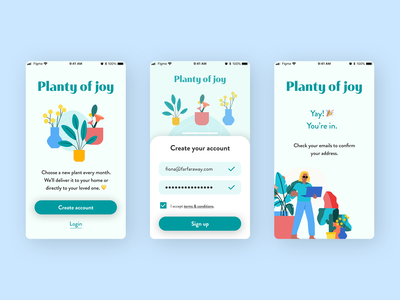 Signup Form - Daily UI Challenge plant illustration plants app plantshop plants plant app sign up signup dailyuichallenge dailyui 001