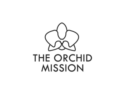 TheOrchidMission flower ngo mission orchid vector illustrator branding design logo