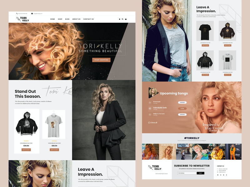 TORI KELLY WEBSITE fashion clothing ecommerce shopify shop website concept web developer web design ui  ux websites web development webdesign website design wordpress ui ux ui icons illustration freelancer website