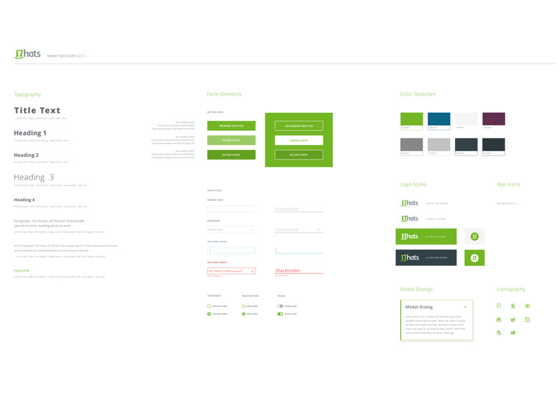 17hats Branding Ui Ux colors color palette branding agency brand color ui kit color guide color green black branding and identity clean branding flat freelancer website web branding design web ui uiux