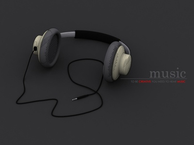 some render i did 10 years back 3d app 3d animation 3d art vray 3d max rendering quote creative musician dynamic headphone inspiration music 3d modeling rendering 3d max