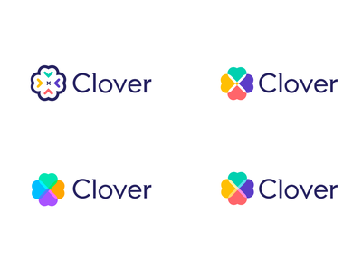 Clover Logo branding concept brandidentity branding colorful green yellow red pink clover branding design brand identity brand design brand logo logos logomarks logomark logotype logo design