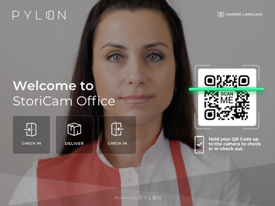 Pylon Office Assistant App product productdesign ui ux application ipad app login page mobile app check out login ui office login app login office login checkout delivery check in office space tablet app assistant onboarding office