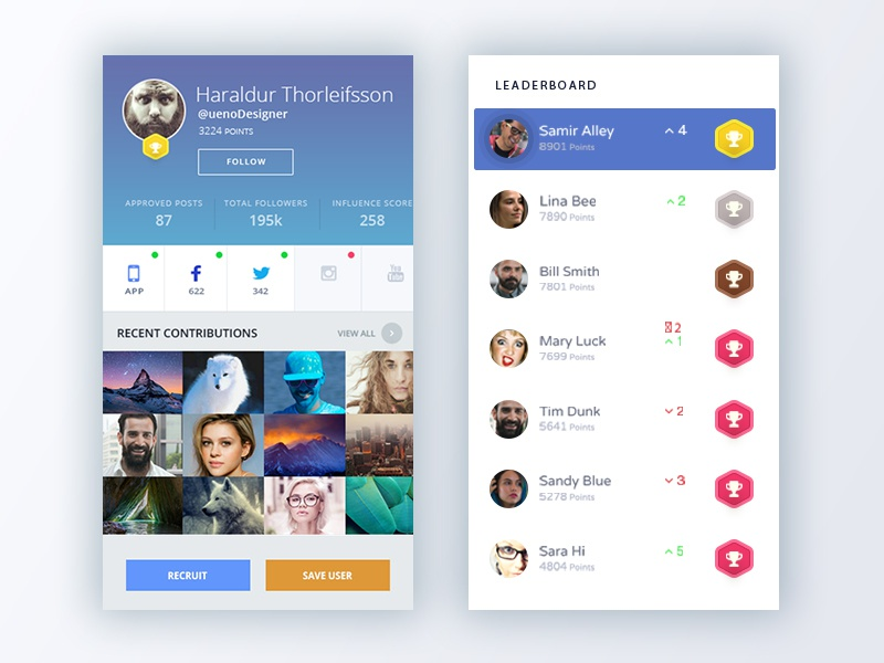 InGageApp By iBlossom mockup psd free networking instagram twitter facebook influencer social network mobile app uixu app