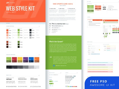 Free Ui Kit Psd By 11thagency