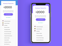 Mobile Pricing Page