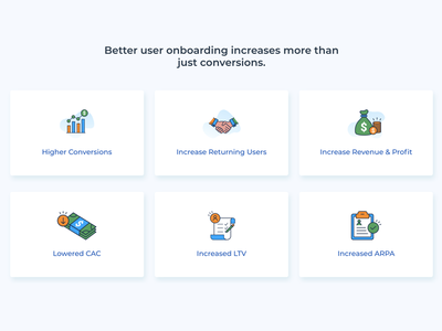 Flat Icons for OnBoarding Agency