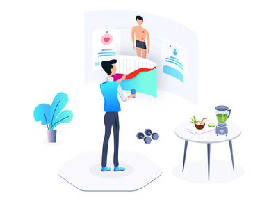 healthcare App Custom Artwork Design