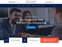 BGF Law Firm Home Page design