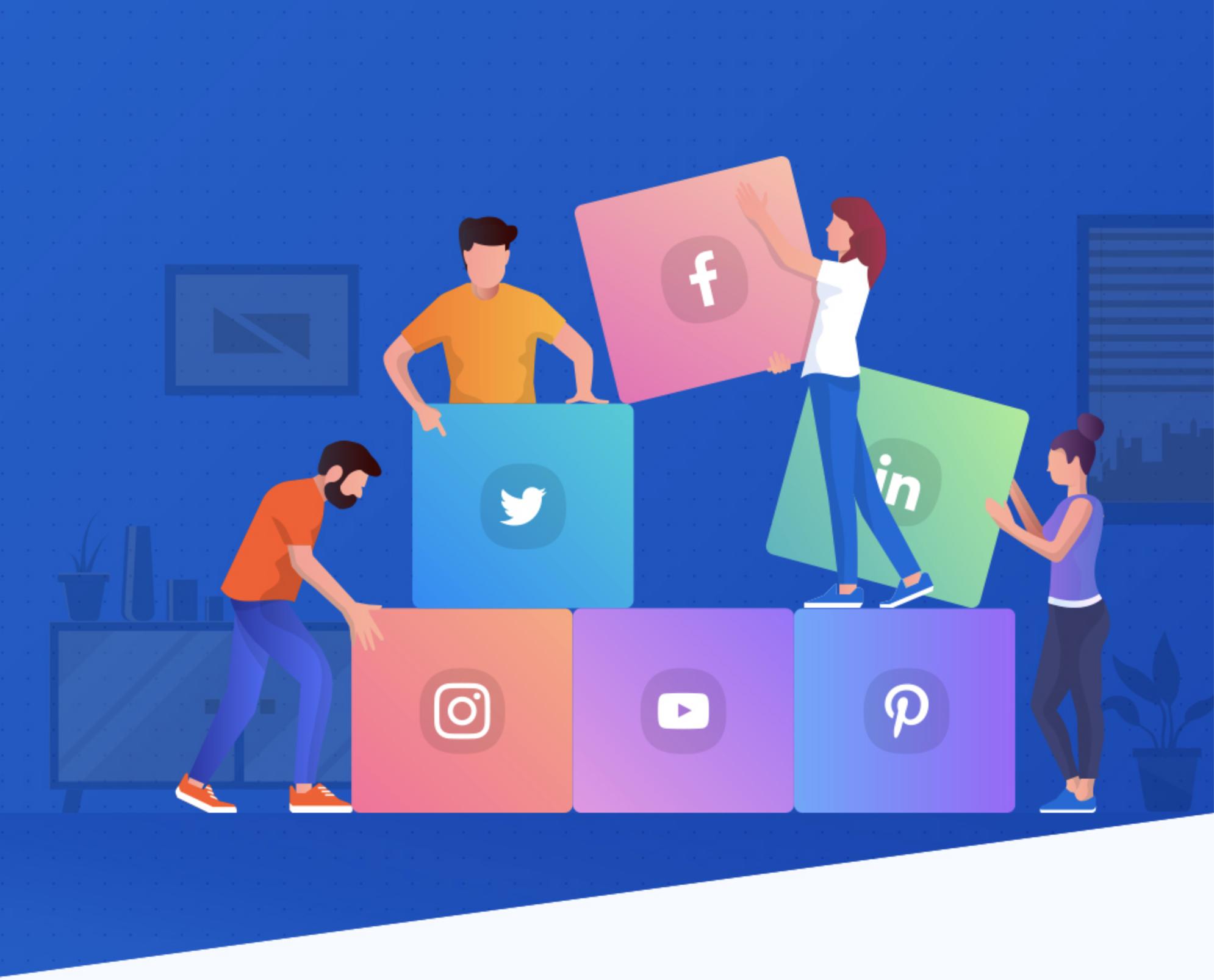 Social metwrok team artwork