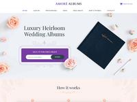 Amore Albums Website Design