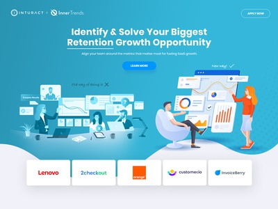 Saas Landing page for product growth