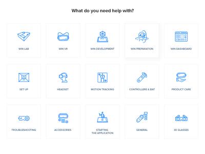 Icon set for Winreality.io