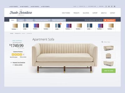Customize your furniture website