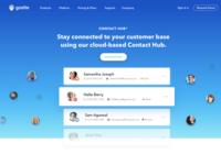 Contact Hub Web landing Page