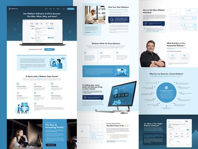 HubSport Landing Page Design Development
