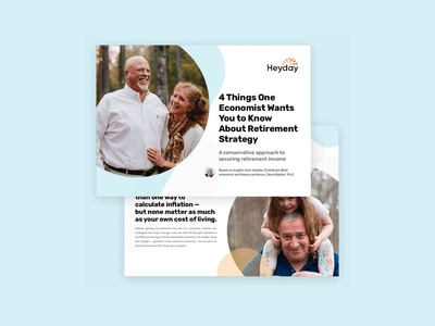 HeyDay Retirement Marketing Design