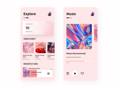 Music player UI player music music player music app ios clean ui