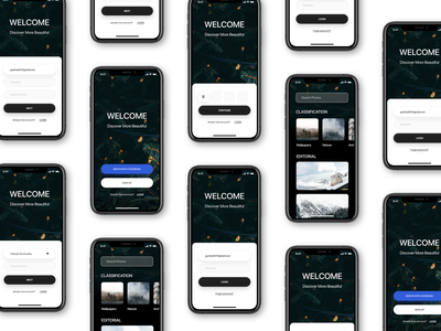 Wallpapers app   part1 sign up sign in log in wallpapers design ux design ui ios