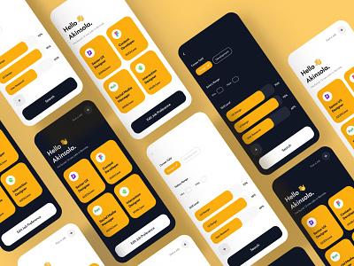 Job App UI Design ui design cuberto ui8 illustration icon flat fintech app ux ui  ux uidesign ui design app