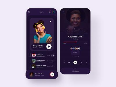 Music App Design mobile app design mobile app mobile ui ui design illustration icon flat ux fintech app ui  ux uidesign design ui app