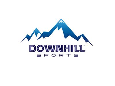 Downhill sports Logo typography illustration design artdirection sport logo logodesign