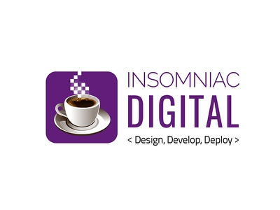 Insomniac Digital Logo logotypedesign logotype typography illustration design artdirection digital logodesign logo