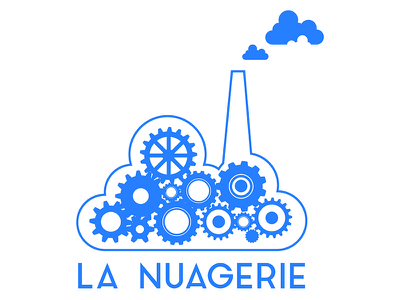La Nuagerie Logo logotypedesign logotype typography illustration design artdirection cloud logodesign logo
