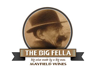 The Big Fella Logo typography portrait illustration design artdirection logotype logotypedesign logodesign wine logo