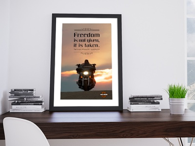 Harley Davidson quote poster photography graphic  design typography design artdirection harleydavidson freedom poster quote
