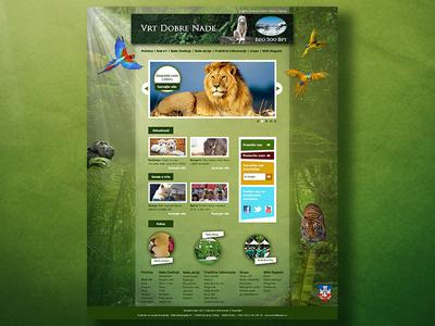Belgrade zoo website homepage website website concept homepage homepage design illustration webdesign zoo artdirection ui design web