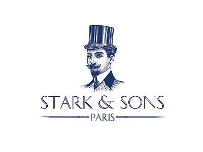 Stark & Sons Logo logotypedesign logotype portrait typography illustration design artdirection branding logodesign logo