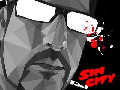 Low poly Sin city avatar portrait illustration design artdirection movie sincity avatar low-poly lowpoly