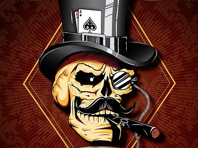 """Mr. Capital"" illustration vector artwork vector portrait drawing typography design skull vectorart illustration artdirection"